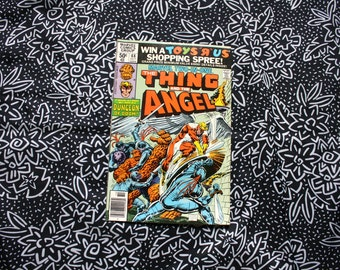 Marvel Two In One #68. The Thing And The Angel Vintage 1980 Bronze Age Comic Book. Rare Fantastic Four Two In One