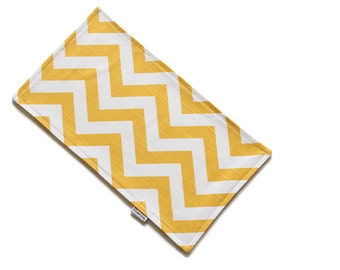 SALE || Burp Cloth || Zig Zag Yellow || Fleece Backing