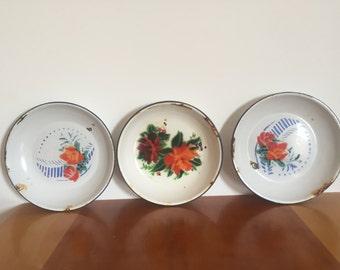 Vintage Enamel Bowl - listing for one bowl
