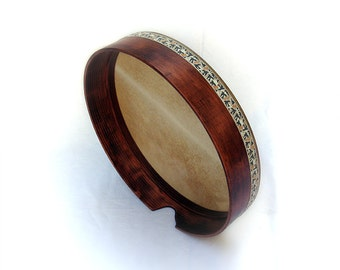 45cm Bendir Tar Frame Drum Mahogany Wax Style Finish by KleoDrums