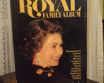 Vintage Book Royal Family Album British Queen of England