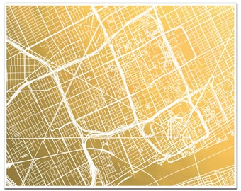 Detroit Map Etsy