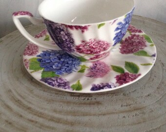 Teacup with floral design