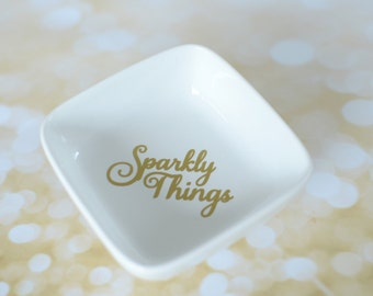 Sparkly Things Ring & Jewelry Dish