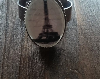 Meet me in Paris, Eiffel Tower vintage inspried ring