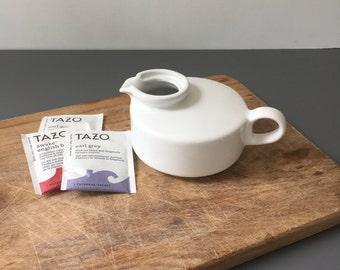 vintage Hall ceramic teapot for one individual teapot white 1708