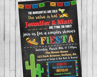 Fiesta Couple Shower Invitation | Fiesta Party Invitation | Mexican Party Invitation | Cinco De Mayo Invitation | Digital Invitation