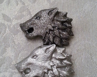 Game of Thrones Inspired Stark Direwolf Pin/Hair Clip