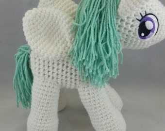 Crocheted Unicorn with wings toy