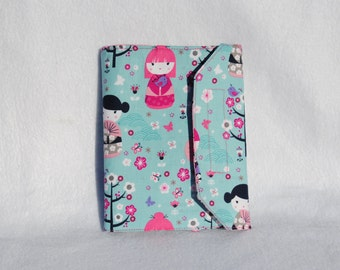 China Doll Crayon Wallet-Coloring Wallet-Child Activity Set-Cherry Blossom