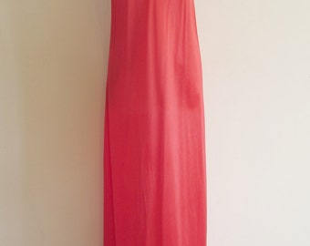 Vintage Red and White Lace Maxi Nightgown
