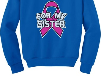 Ribbon For My Sister - Cancer Awareness - Youth Sweatshirt