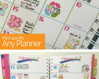"""Event Stickers for Calendars...Wow! 432 Planner Stickers to stylize any planner, calendar. Size: 3/4"""" x 3/4"""" Flat rate ship! [Item #2003]"""