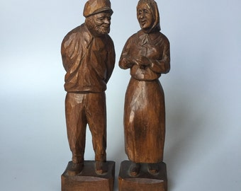Carved Figures from French Canada