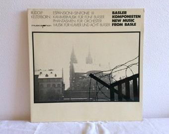 Rudolf Kelterborn : Espansioni, Chamber Music for Five Wind Instruments, Phantasms LP Musicaphon BM 30 SL 1716 series New Music from Basle