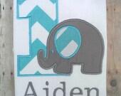 Personalized Elephant Birthday Shirt. Elephant Birthday. Zoo Theme.  1st Birthday, 2nd Birthday, 3rd Birthday, 4th Birthday, 5th Birthday.