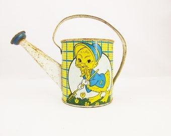 Vintage 1940s Watering Can - 'Ohio Art' Duck Watering Can - Shelf Stuff - Summer Memories - Perfect Garden Room Accessory