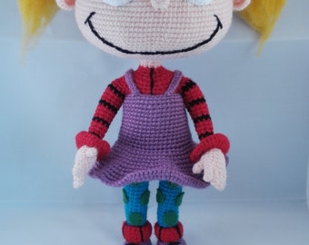 Cute doll Present for kid Crochet Doll Costume doll Amigurumi Doll Princess Crochet Dollies Gift for girl Angelica pickles Handmade doll