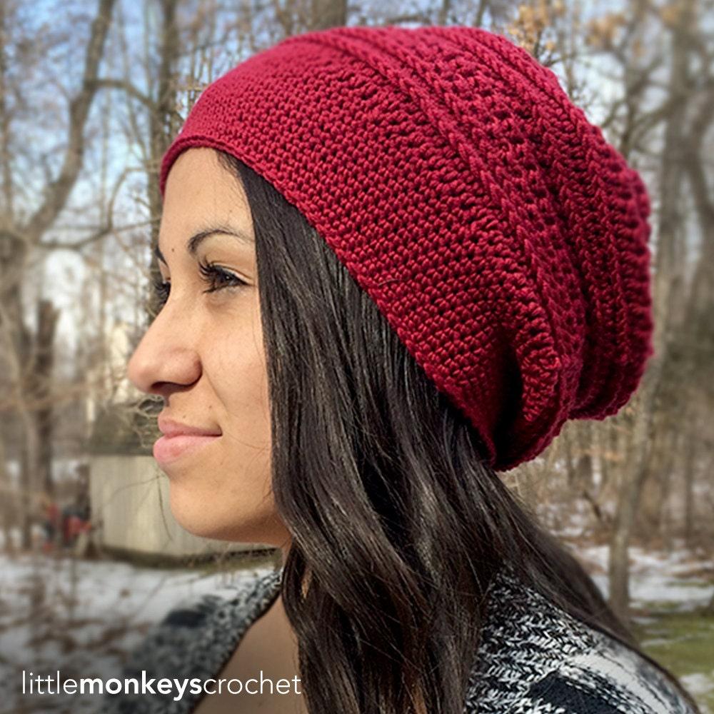 Crochet Slouch Hat: Slouch Hat Crochet Pattern: Marion Slouch Crochet Pattern PDF