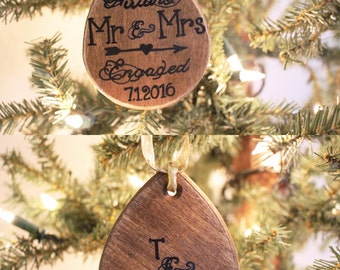 Future Mr and Mrs Ornament - Engagement Ornament, Personalized Ornament, Christmas Gift, Proposal Gift, Newlywed Gift, Wedding Ornament