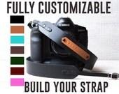 Custom Camera Strap DSLR camera strap Monogram camera strap DSLR strap Canon camera strap Nikon Camera strap