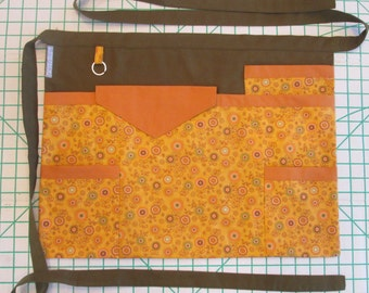 Teacher Apron | Utility Apron | Vendor Apron | Teacher Gift Apron | Craft Fair Apron | Half Apron | Pockets Apron | Handmade Apron