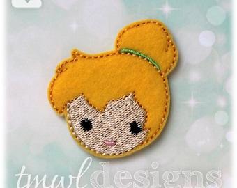 """Emoji Tink Fairy Feltie Digital Design File - 1.75"""""""