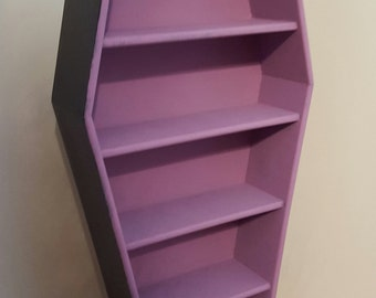 Coffin Shelves/ Craft show display/Display shelves/ collectible display shelf/ gothic display shelves/ jewelry display/ crafter shelves