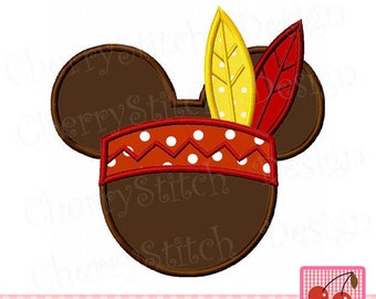 """Thanksgiving Mickey Pilgrim Mickey Machine Embroidery Applique Design MM062 -for 4x4 5x5 6x6"""""""