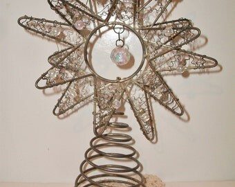 Vintage Wire Star Christmas Tree Topper