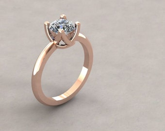 14K Gold Handmade Semi-Mount Engagement Ring (st - C6)