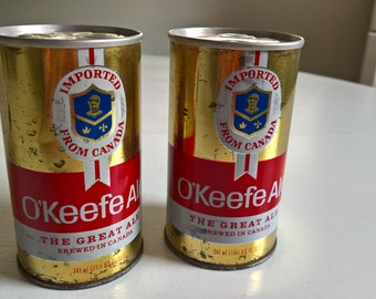 Vintage O' Keefe Canadian Ale Beer Can --- Retro Northern Tavern Metallic Bar Man Cave Home Decor --- Canadian Oktoberfest Curio Home Decor
