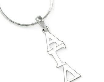 Alpha Gamma Delta Sterling Silver Lavaliere // ΑΓΔ Sorority Jewelry // Sorority necklace // Sorority gifts // Gifts for her // Greek life