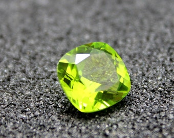 Peridot Square Faceted Gemstone Cushion Cut Peridot Gem Multiple Sizes to Choose C05G