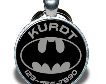 Pet ID Tag - Batman, grey *Inspired*