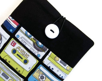 iPad Pro Case, iPad Air 2 Cover, iPad Sleeve - Custom Padded Tablet Case with Pocket for iPad Pro 9.7, 12. Retro Mix Tape