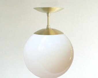 Mid Century Modern Wall Sconce Light 8 Clear Glass Globe
