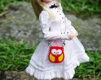 "1/6 Scale - Custom Handmade - Mini ""Lucky Owl"" Leather Bags - 4 Colors"