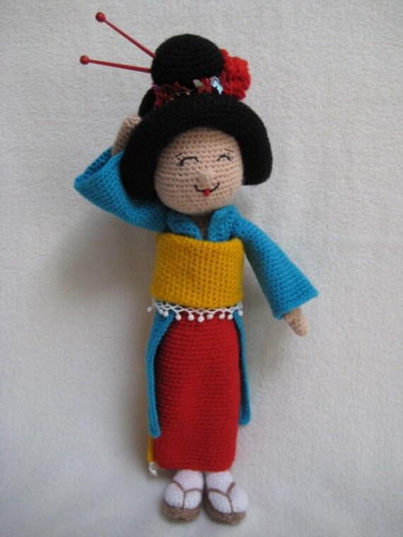 Amigurumi Geisha Tutorial : Crocodile Amigurumi PDF Crochet Pattern - Adidum