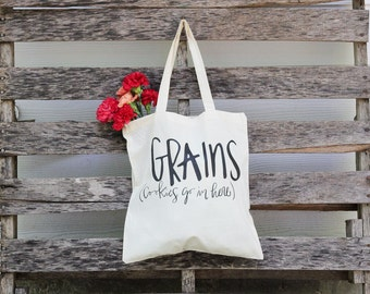 Funny Tote Bag, Canvas Tote Bags, women's gift, Grocery Tote Bag