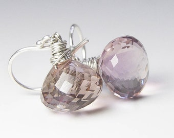 Ametrine Earrings, Amethyst Citrine Earrings. Choose Earwire. February Birthstone. Silver Earrings. GIft Under 40