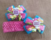 Big Sister Hair Bow - Little Sister Hair Bow - Big Sister Little Sister Hair Bow Set - Matching Sister Hair Bows - Big Sister Gift -
