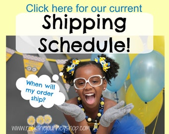Shipping Schedule (click to see approximately when your order will ship)