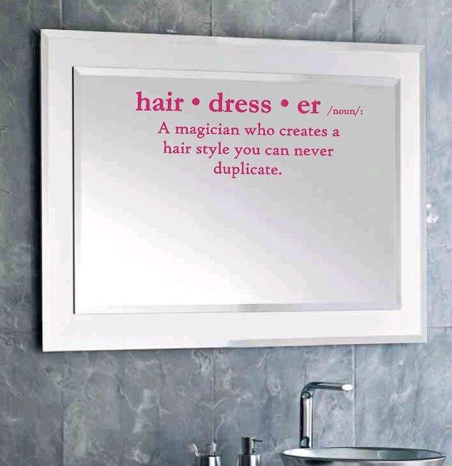 Definition of hairdresser wall decal salon decor wall - Art salon definition ...