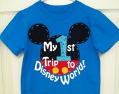 My 1st First Trip to Disney World Shirt for Boys - Turquoise