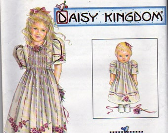Simplicity Sewing Pattern, Daisy Kingdom, Girls Sizes 3,4,5,6, Dress and Matching 18 Inch Doll Clothes Pattern, Simplicity 7999, Uncut