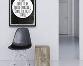 If You Don't Fit In || typography art print, life quote, light poxlietner quote, inspirational print, black and white, don't fit in quote