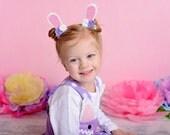 Bunny ears - glitter and felt bunny ears - Easter clips - glitter bunny ears