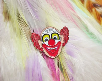 Vintage Retro Clown Circus Creepy Pin Badge