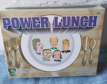 Vintage Power Lunch Card Game New in Sealed Box